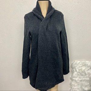 White + Warren Grey Wool Blend Cardigan - Sz L
